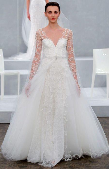 Monique Lhuillier Spring 2015 Bridal Collection - Monique Lhuillier from #InStyle