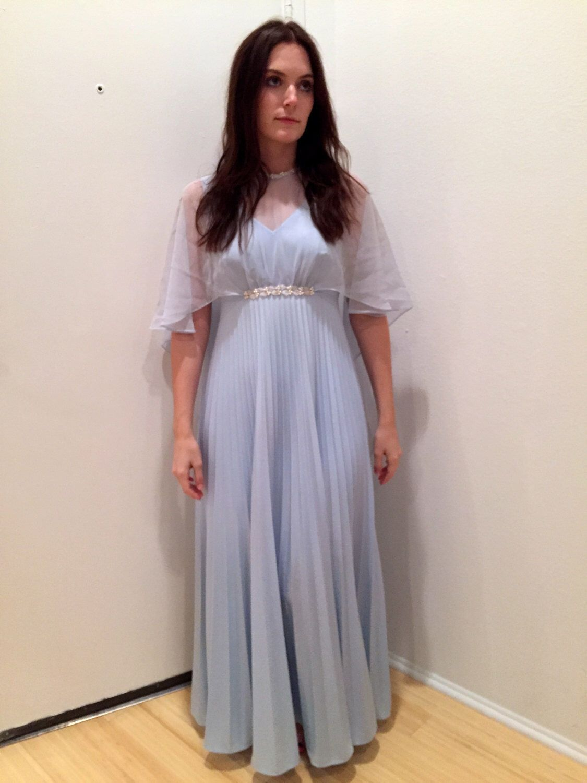 Light Blue 70 S Prom Dress Dresses 70s Prom Dress Prom Dresses Vintage