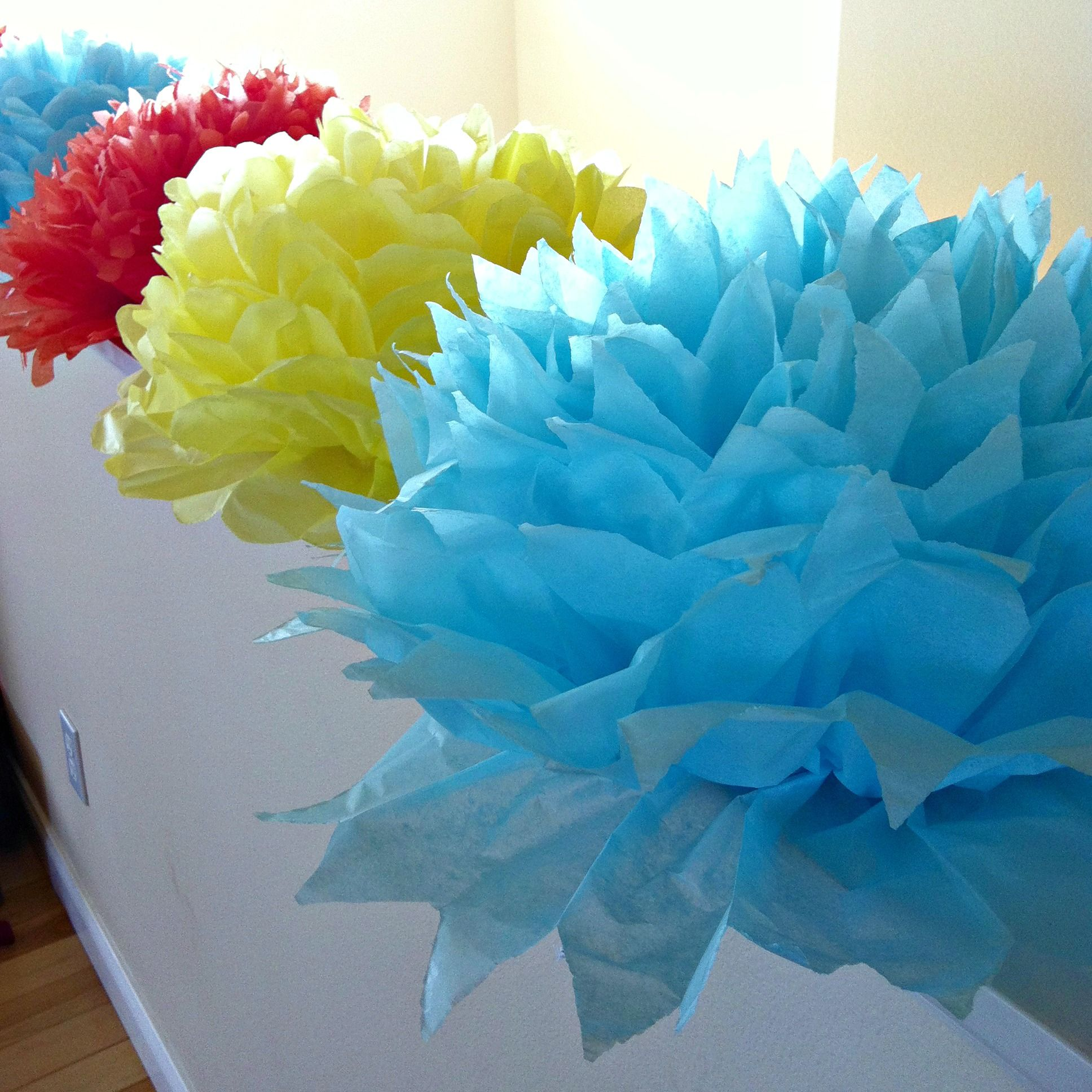 DIY Giant Handmade Tissue Paper Flowers Tutorial 2 For 100 Make Beautiful Birthday Party Decorations Or
