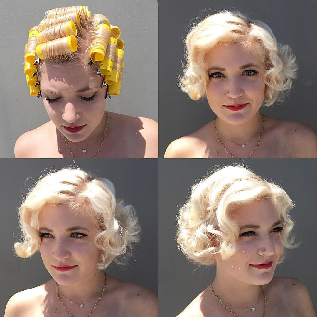 Easy Vintage Hairstyles For Natural Curly Hair Look 1960s X2f Mad Men Bobby Pin Blog Easy Vintage Hairstyles Curly Hair Styles Naturally Vintage Hairstyles