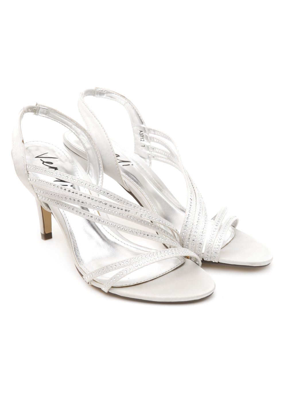 """Fling"" Silver Satin 