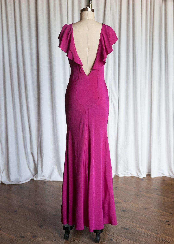 Idrina gown | vintage 30s gown | pink silk bias gown | vintage 1930s ...