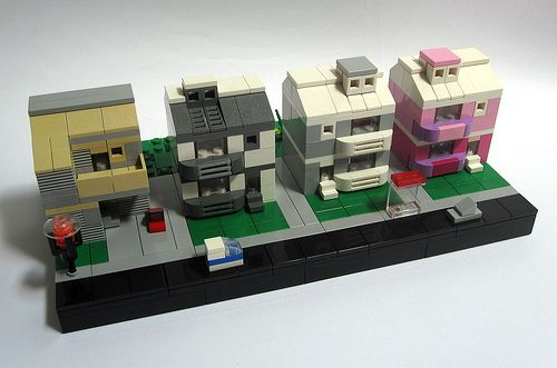 Mr Blobby House (front) | LEGO Architecture | Pinterest
