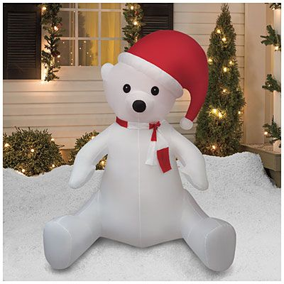 8' Inflatable Polar Bear at Big Lots. #BigLots | #BigLots ...