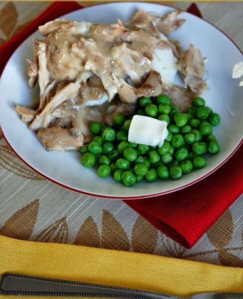 instant pot 3ingredient chicken and gravy  recipe  3