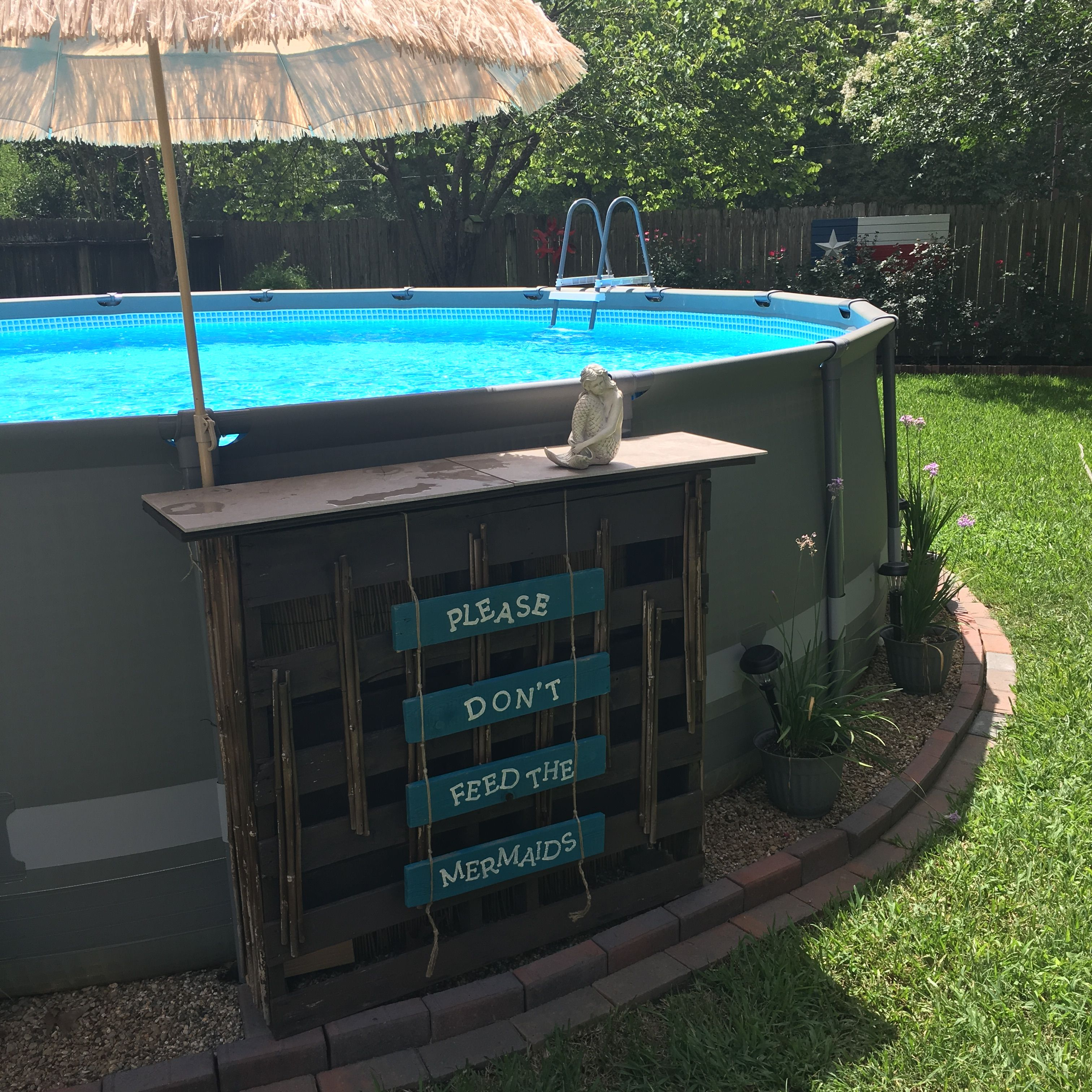 Swim up mermaid bar for our pool pool swimming pool - Above ground pool bar ...