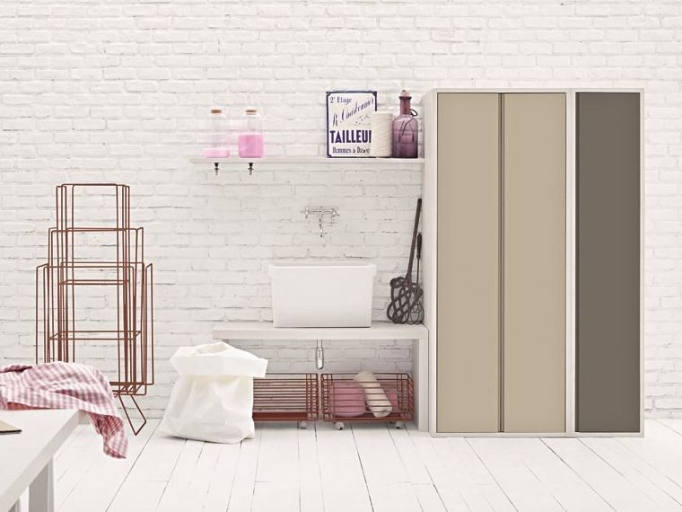 Birex Mobili ~ Mobile lavanderia componibile per lavatrice acqua e sapone mobile