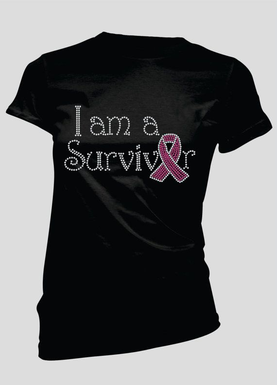 I am a Survivor Rhinestone TShirt by BellaBlingOnline on Etsy, $21.99