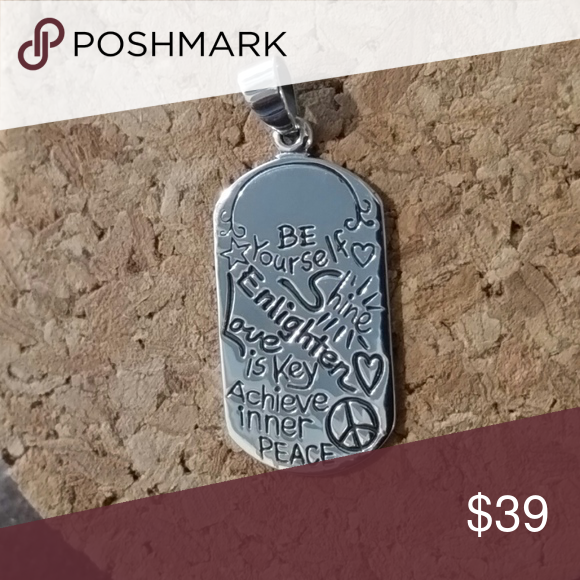 Be Yourself Dogtag Sterling Sterling Silver Dog Tag With The Inspirational Message Be Yourself Shine Enlighten In 2020 Womens Jewelry Necklace Sterling Silver Dog Tag