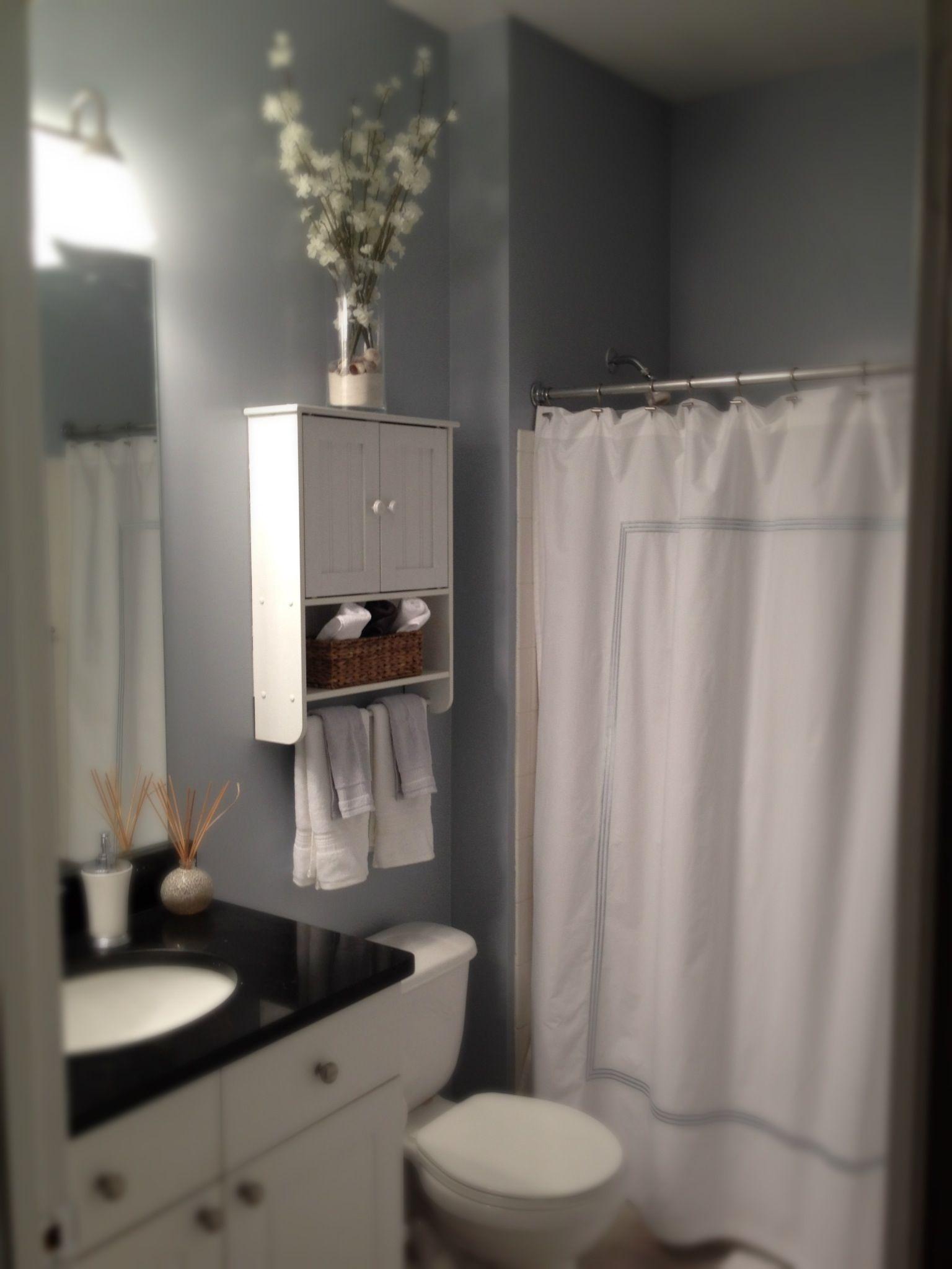 Pottery Barn bathroom.Shelf above toilet | bathroom | Pinterest ...