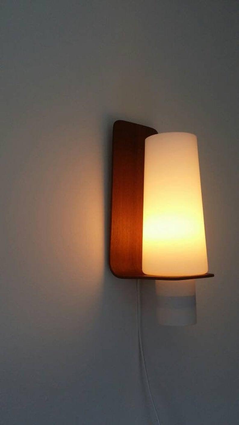 Rare 60s Swedish Design Wall Light Sconce Lamp 50s 70s Mid