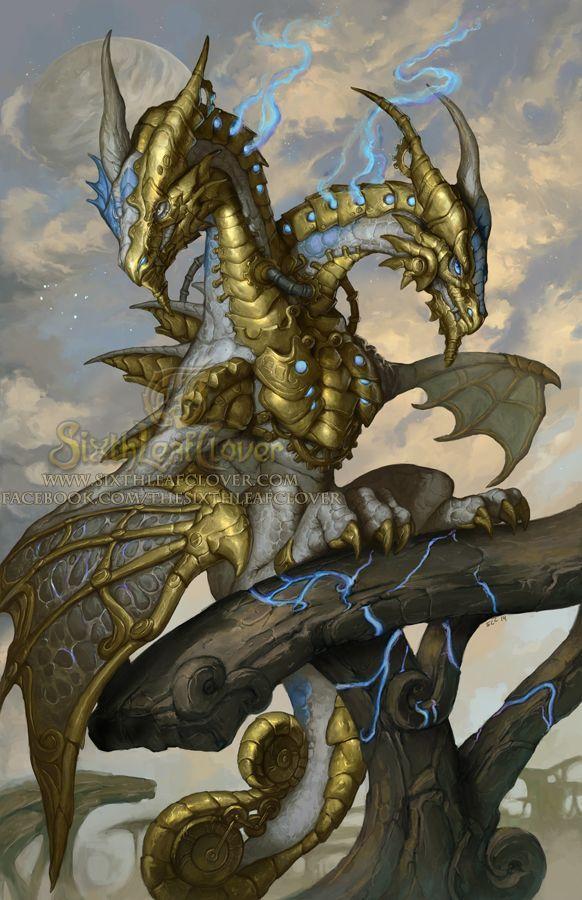 2015 Zodiac Dragons - Gemini by The-SixthLeafClover steampunk hydra