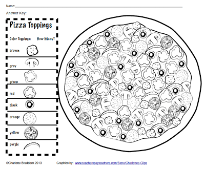 Free 100 Topping Pizza Activity And Graphing Sheets From Charlotte S Clips Great For 100 Days Of School Celebration 100 Days Of School School Pizza 100th Day