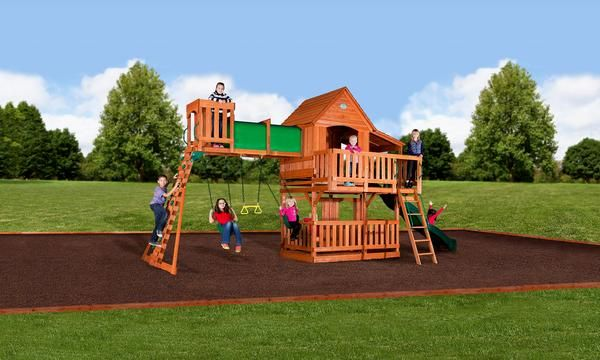 Woodridge Ii Wooden Swing Set Home Backyard Backyard