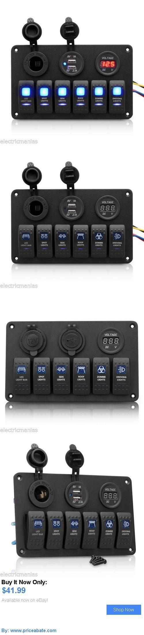 boat parts: 12V Car Boat Marine 6-Gang Led Rocker Switch Panel ...