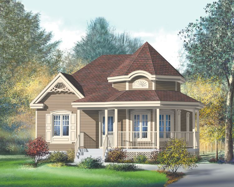 Traditional Victorian Homes Tend To Be Fairly Large But That Doesn T Mean Tiny House Lover Victorian House Plans Country Style House Plans Country House Plans