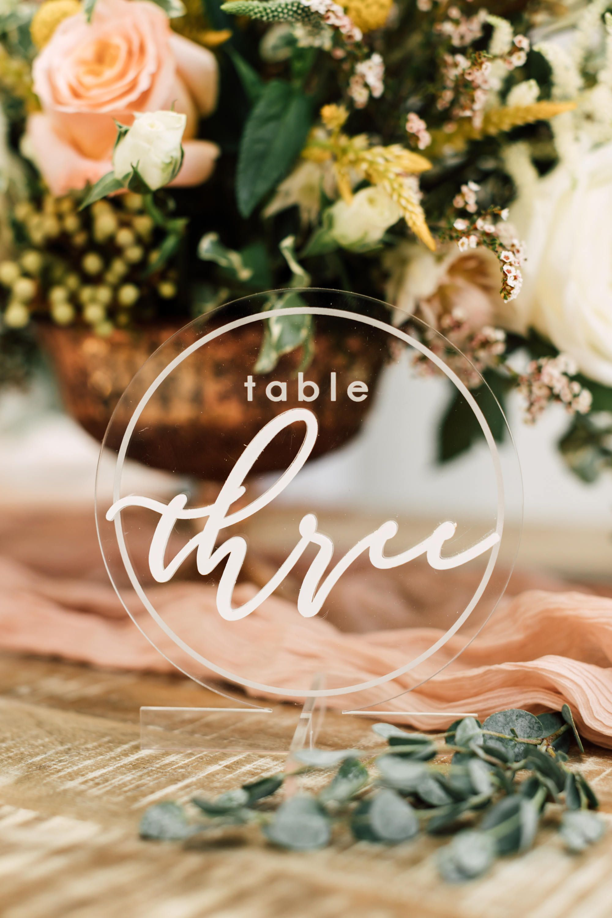 Were Swooning Over These Unique Table Numbers - Laser Cut