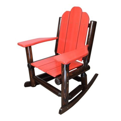 Elegant Red Shed Paddle Arm Log Rocker, Red   Tractor Supply Co.