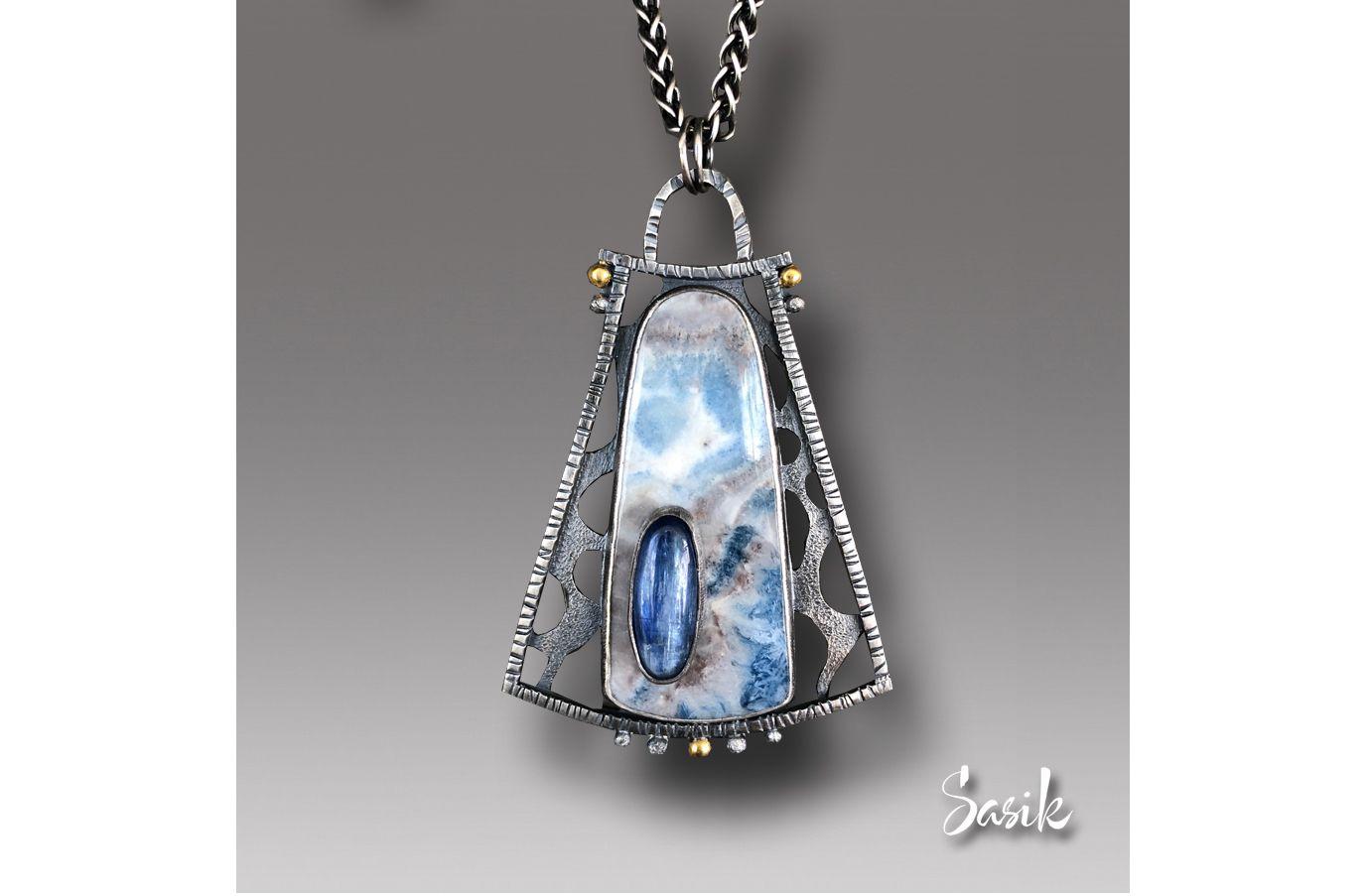 Hypnotic blues pendant jewelry pinterest pendants handmade hypnotic blues pendant mozeypictures Choice Image