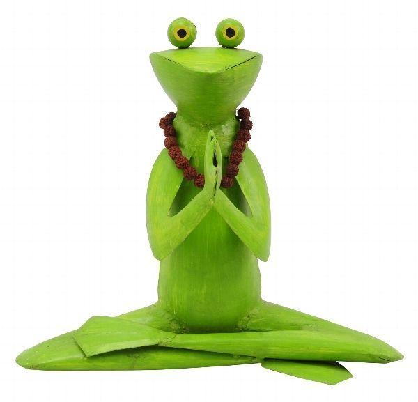 Neu Yoga Frosch Kanu Exner Handarbeit Metall Skulptur Gartendeko Gartenfigur Gartenfiguren Yoga Figuren Garten Deko