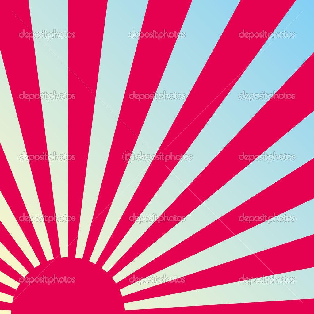 Abstract Retro Japanese Sunrise Background Vector Stock Hoshi Breast Cream Sunset Tattoos