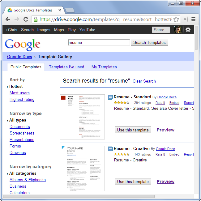 Keep A Detailed Resume Up To Date Easily With Google Docs Simple