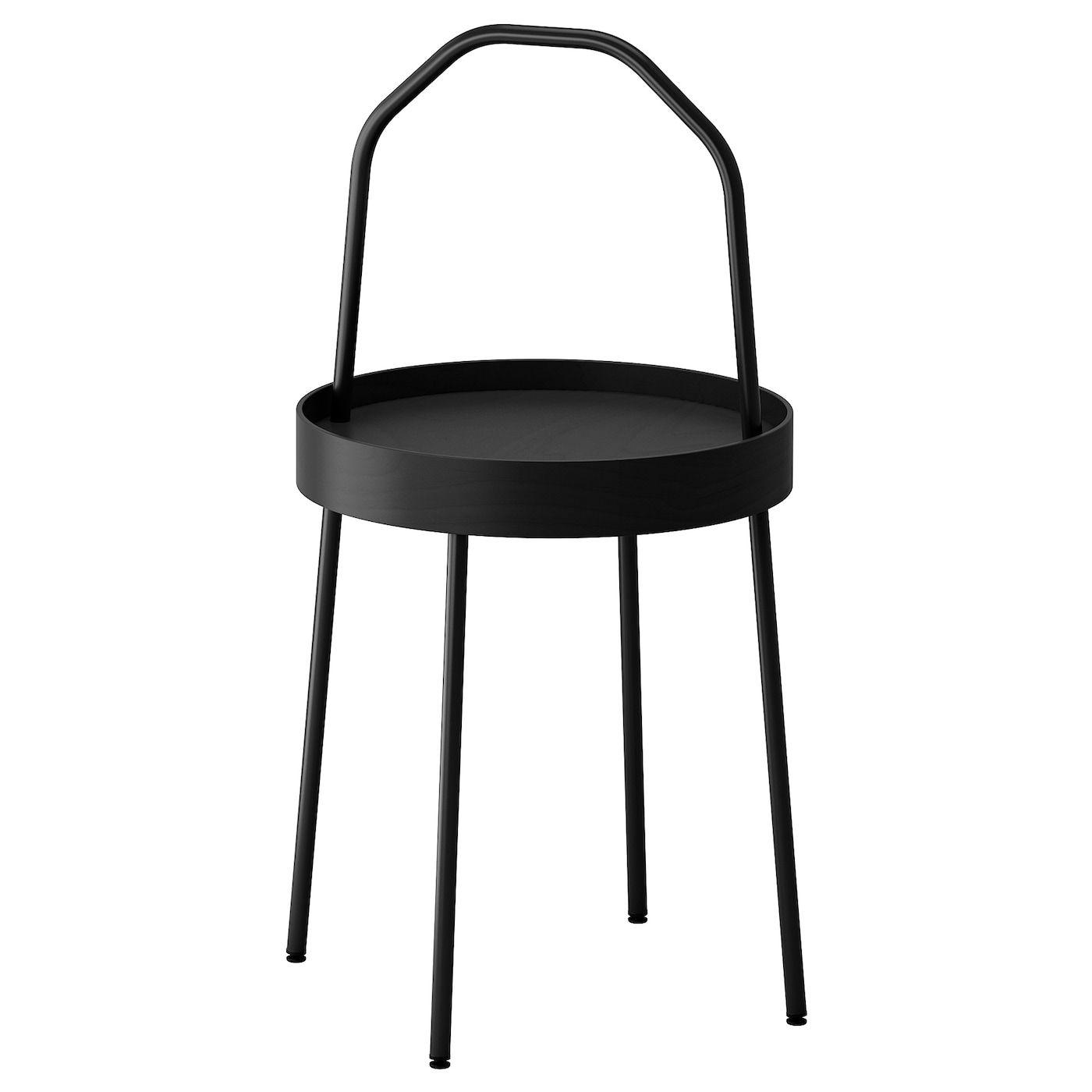 Burvik Side Table Black 38 Cm Ikea Ireland Black Side Table Side Table Ikea Side Table [ 1400 x 1400 Pixel ]