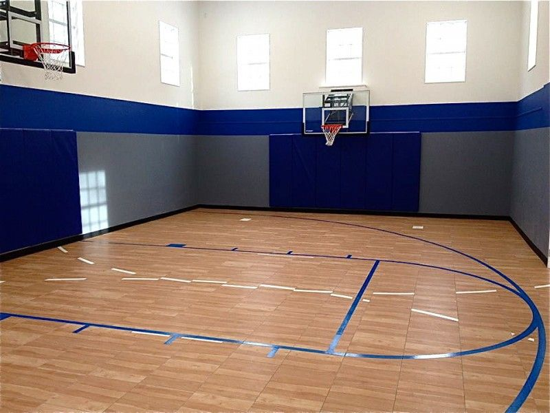Statuette Of Indoor Basketball Court Healthy Support For More Private And Fun Exercise Indoor Basketball Indoor Basketball Court Basketball Court