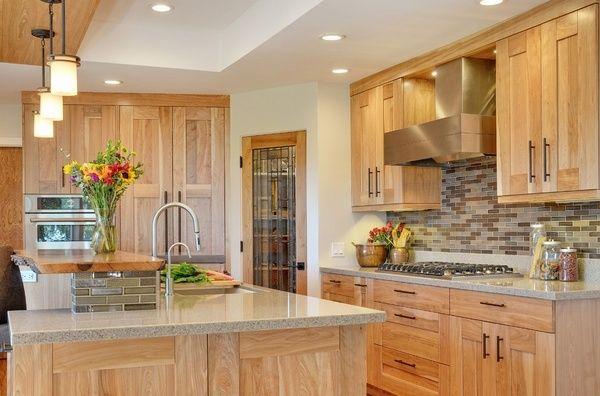 Best Hickory Cabinets Design Ideas Granite Countertops Tile 640 x 480