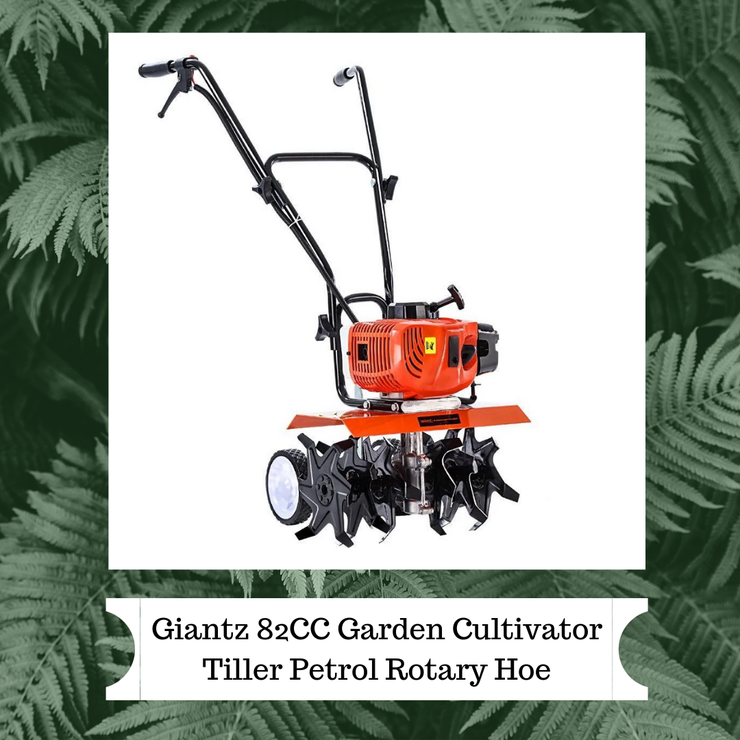 Get the earth moving quick and easy with the GIANTZ Hand-held Tiller. Featuring a 82cc 10,000rpm 2