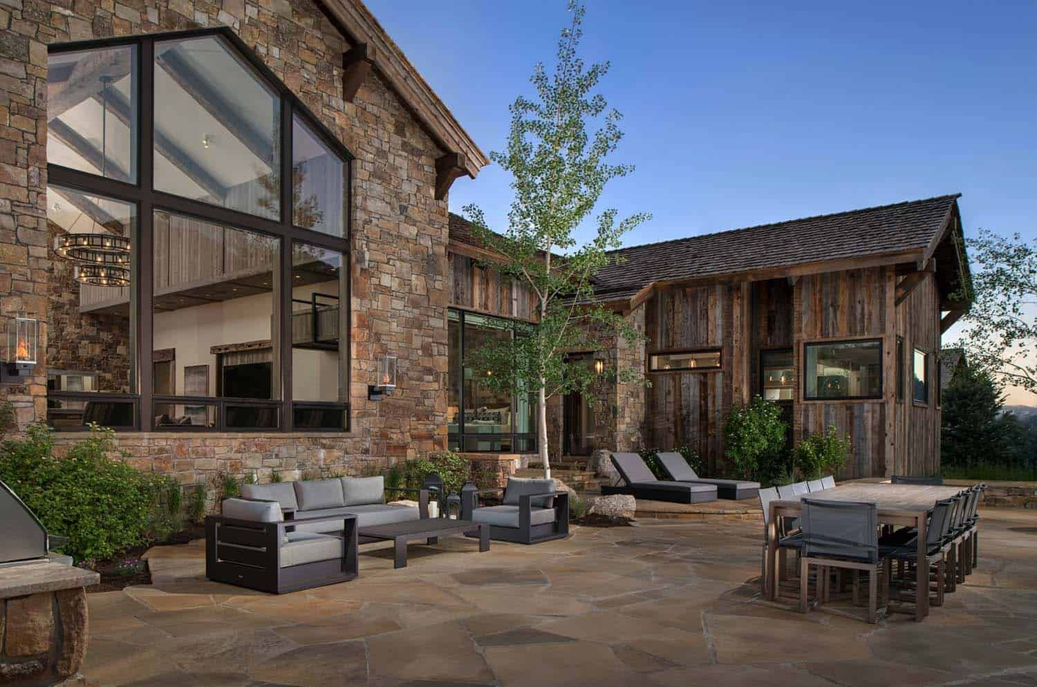 Timber frame home has a breathtaking backdrop of Wyomings mountains