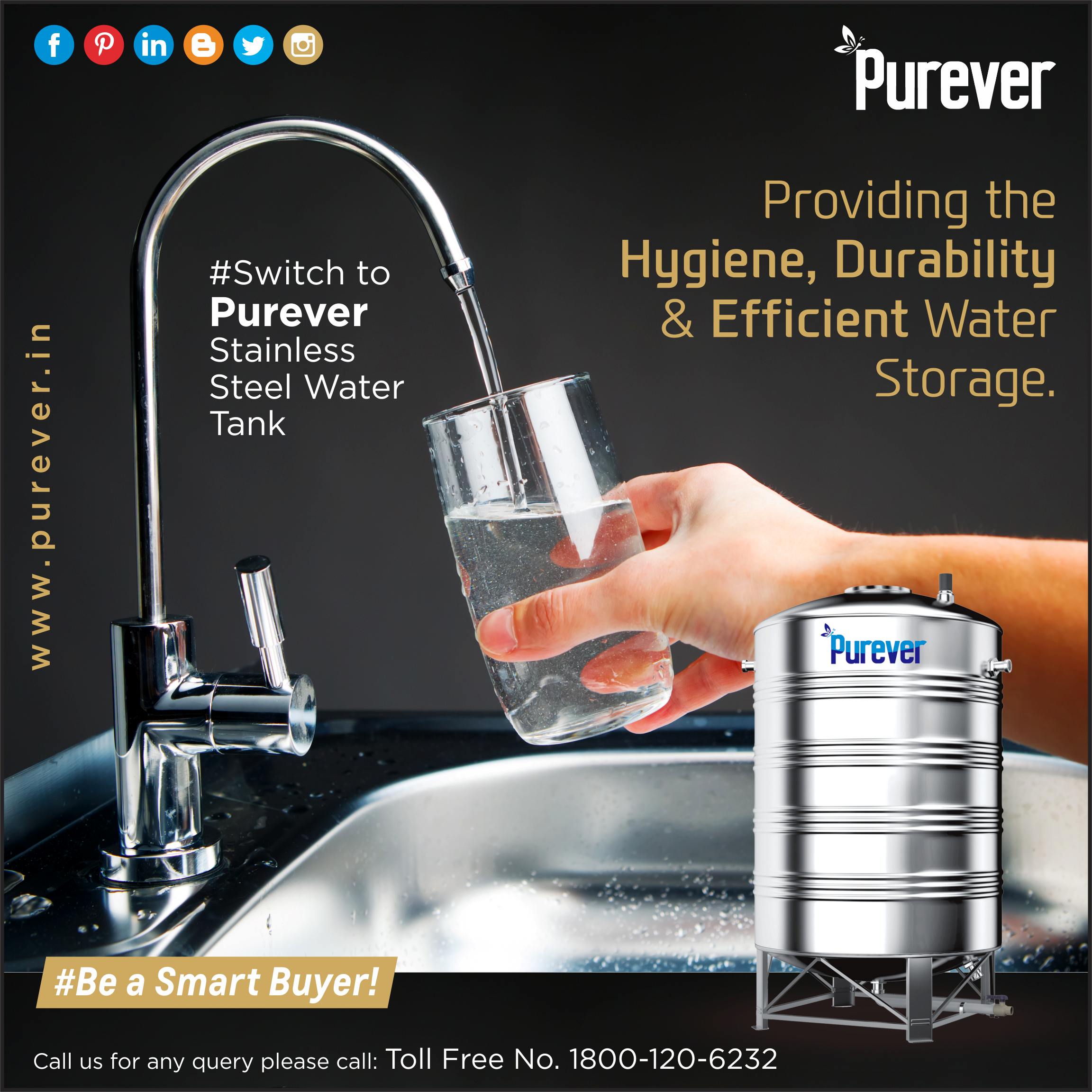 Purever Stainless Steel Water Tanks Providing The Hygiene Durability Efficient Water Storage Solutions 1800 120 62 Steel Water Tanks Water Tank Steel Water