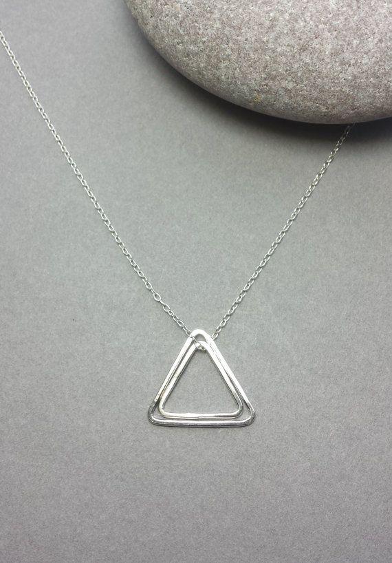 Tiny Geometric pendant geometric pendant Sterling silver pendant silver pendant