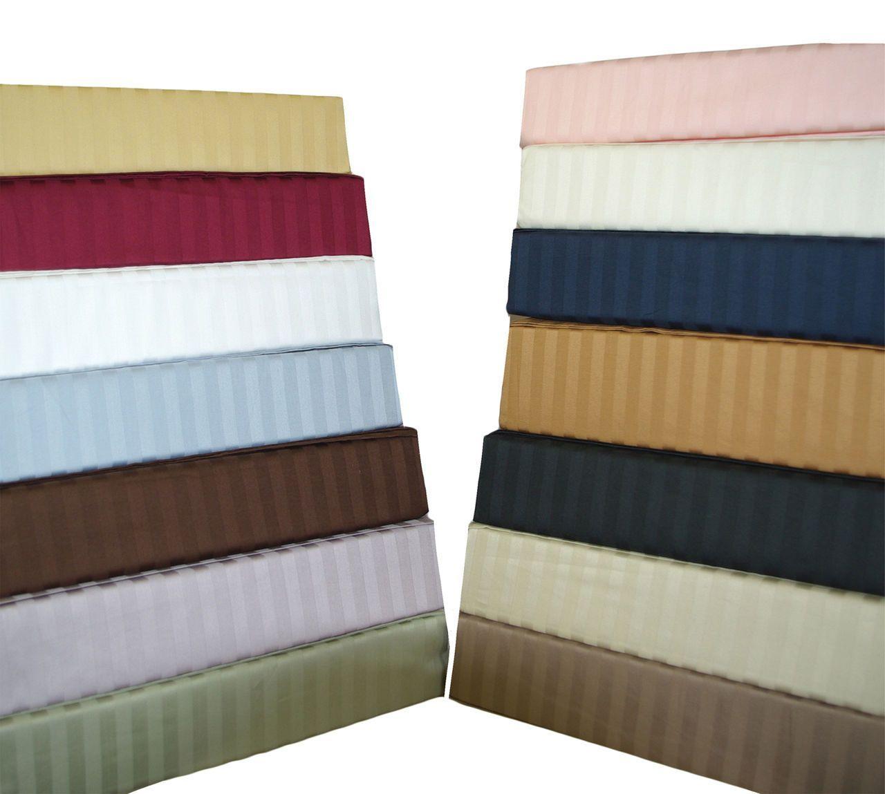 Stripe 300 Tc Super Single Attached Waterbed Sheet Set 100 Cotton Water Bed Queen Pillow Top Mattress Sheet Sets