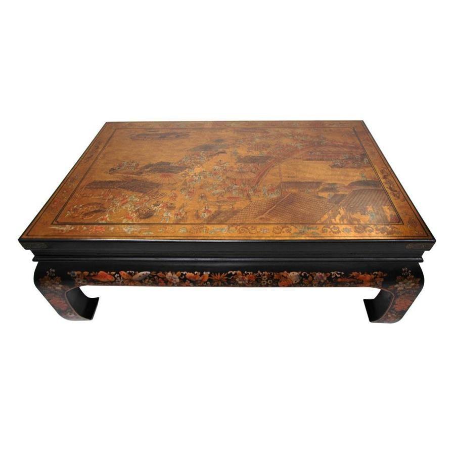 Oriental Furniture Peaceful Village Gold Leaf Coffee Table Lowes Com Coffee Table Handmade Coffee Table Gold Leaf Furniture [ 900 x 900 Pixel ]