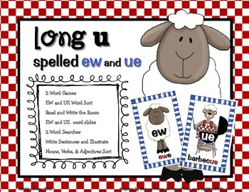 Long U spelled EW and UE Word Work Pack | Primary Word Work