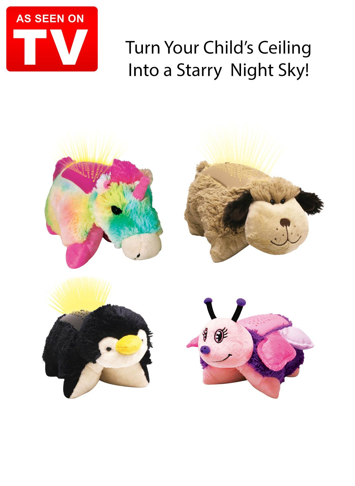 Dream Lites Pillow Pets As Seen On Tv I Want The Dog One Animal Pillows See On Tv Pets