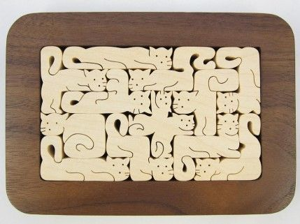 Simple Puzzle Template - Free Laser Designs - Glowforge