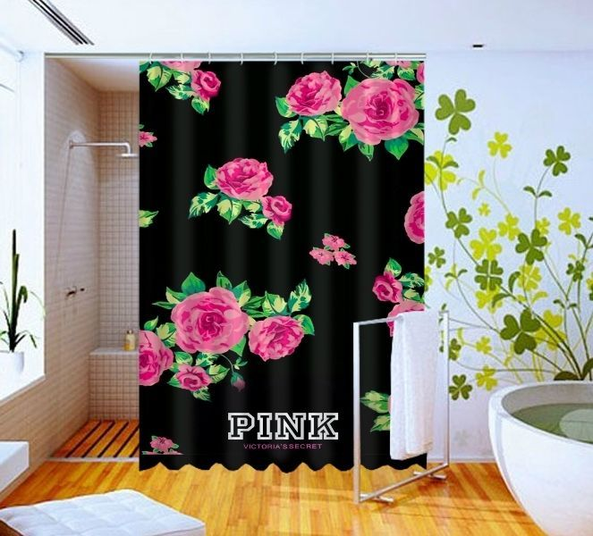 Pretty Pink Flowers Victoria S Secret High Quality Custom Shower