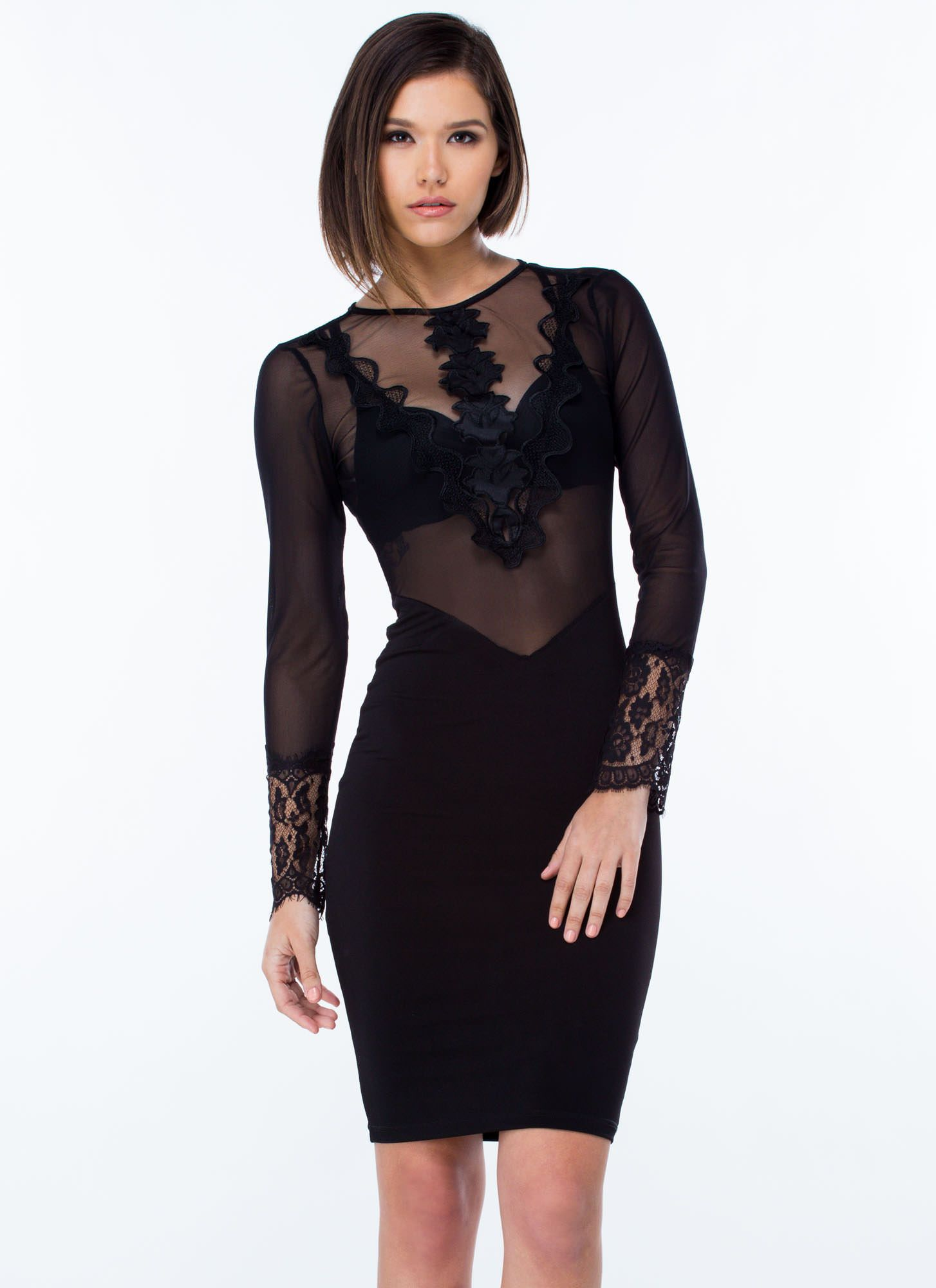 Black Lace Dress Bodycon Dress Stretchy Bodycon Dress Backless Bodycon Dresses [ 2000 x 1454 Pixel ]