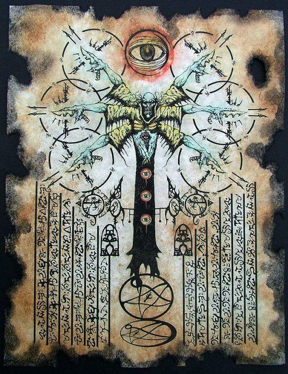 cthulhu larp NYARLATHOTEP RITUALS Necronomicon demon occult dark art magick