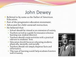 John dewey theories and concepts on