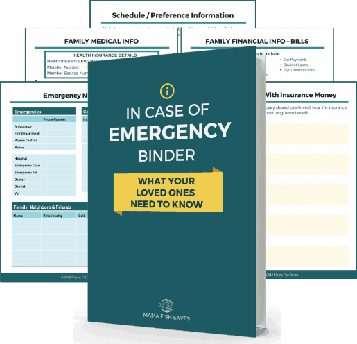 Family Financial Emergency Binder: Everything You Need