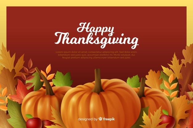 Download Thanksgiving Concept With Realistic Background For Free