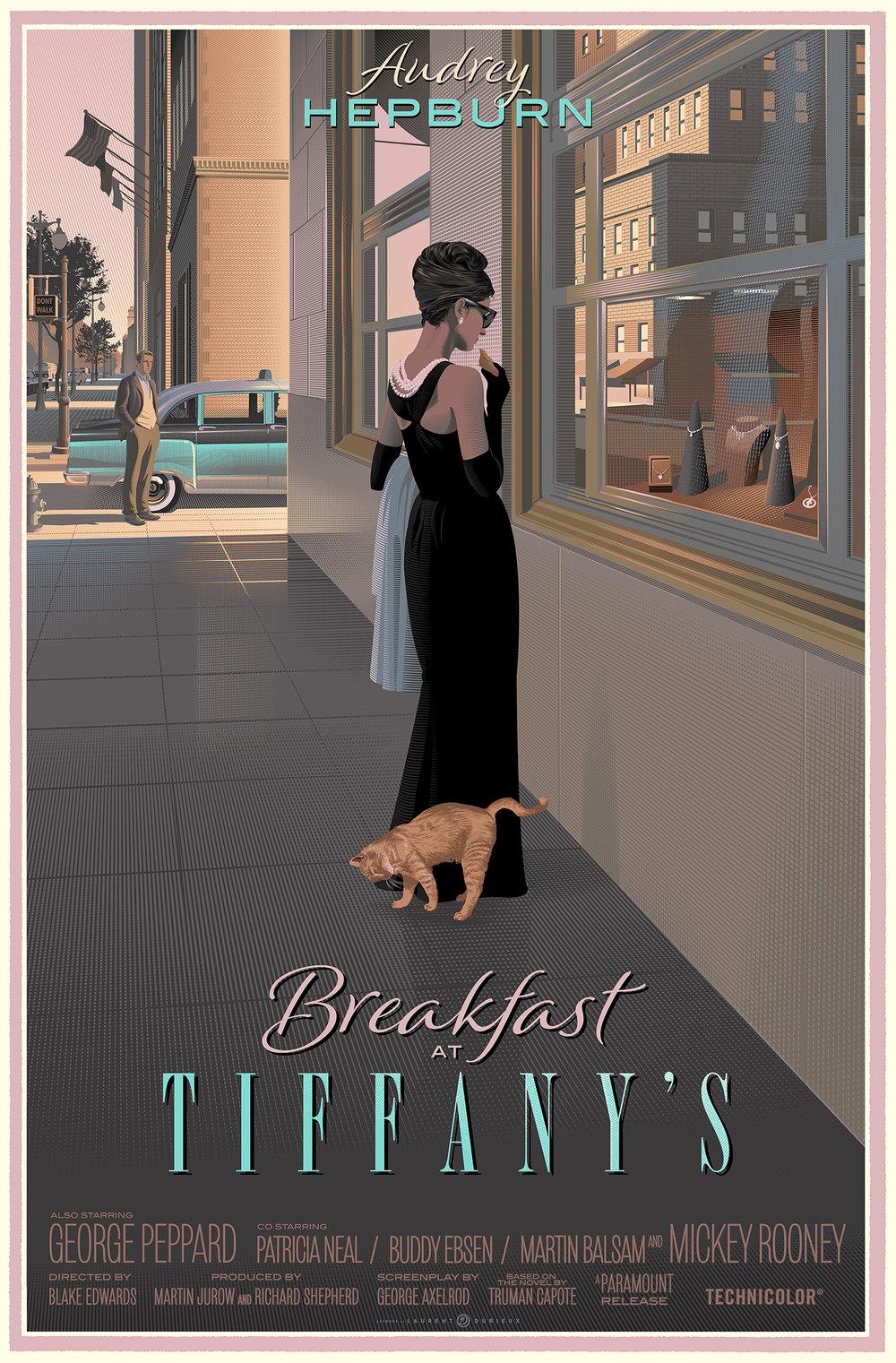 LAURENT DURIEUX Audrey hepburn, Breakfast at tiffany's