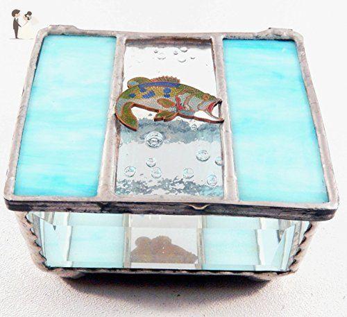 Beautiful Light Blue Aqua Jewelry Box Stained Glass Keepsake Box Delectable Decorative Keepsake Memory Boxes