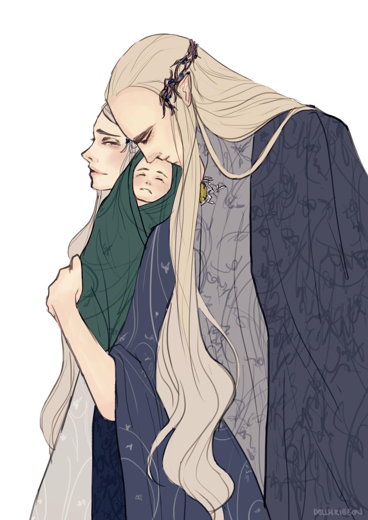 Mirkwood royal family. Legolas and Thranduil and his wife ...