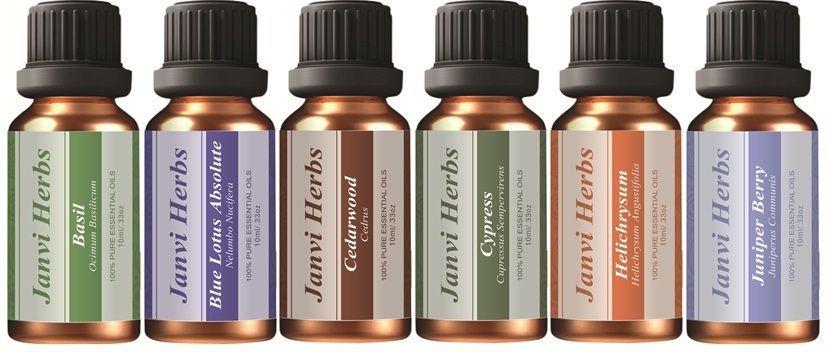 100% Pure Natural Essential Oils Therapeutic Grade Use Unisex (JANVI
