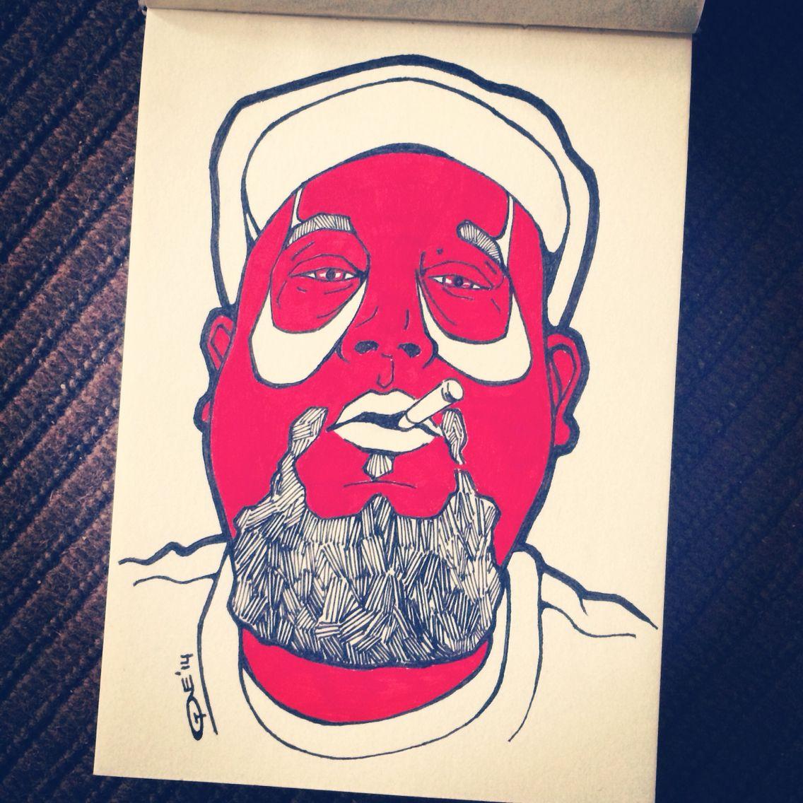 Pen drawing Tony Coppin
