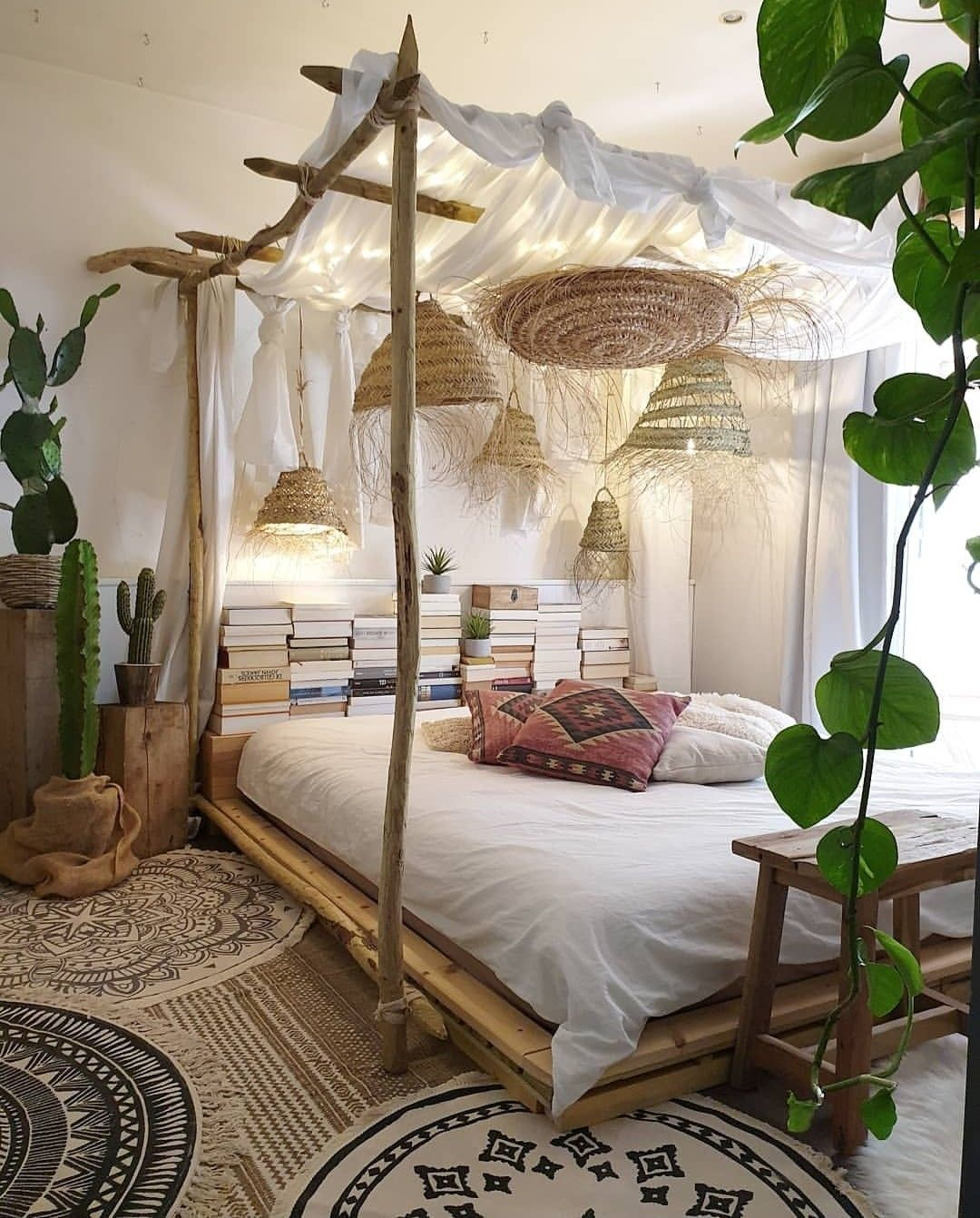 Pin by De La Rouz on Boho Decor  Bohemian bedroom design, Nature